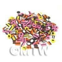 1/12th scale 50 Liquorice All Sorts Cane Slices