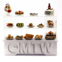 the front of Dolls House Miniature Dessert Counter