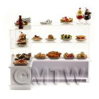 the rear of Dolls House Miniature Dessert Counter