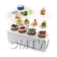Dolls House Miniature Filled Left Hand Cake Counter