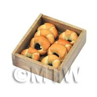 Dolls House Miniature Croissants In A Bakers Tray