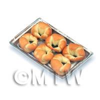 Dolls House Miniature Croissants On A Tray
