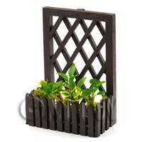 Handmade Miniature Garden Plants In A Trellis Backed Box Style 2
