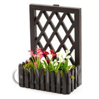 Hand Made Miniature Calla Lilies In A Trellis Backed Box