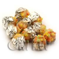 Dolls House Miniature Fruit Topped Foil Based Iced Bun