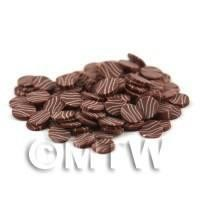 50 Milk Choc With White Choc Ripples Cane Slices (09NS4)