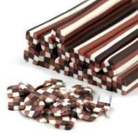 Chocolate Checkerboard Nail Art Cane (09NC10)