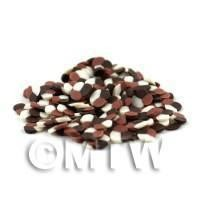 1/12th scale 50 Triple Chocolate Twist Nail Art Cane Slices (09NS11)