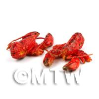 Dolls House Miniature Pair Of Cooked Red  Lobsters
