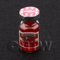Dolls House Miniature Handmade Resin Strawberry Jam Jar