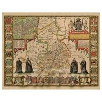 Dolls House Miniature John Speed Aged Cambridgshire Map