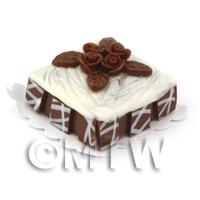 Dolls House Miniature Square Chocolate Orange Cake
