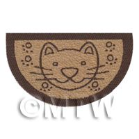 Dolls House 62mm Half Moon Cat Welcome Mat (WM10)