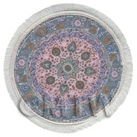 Dolls House Large 17th Century Round Carpet / Rug (17LRD03)