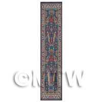 Dolls House Miniature 24cm Red, Yellow And Blue Aztec Runner (HR1)