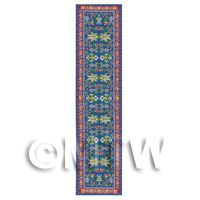Dolls House Miniature 24cm Blue And Yellow Floral Design Hall Runner (HR8)