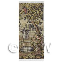 Dolls House Miniature Large Woven Tapestry Country Scene (TAPMR01)