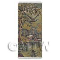 Dolls House Miniature Large Woven Tapestry With Flamingos (TAPMR02)