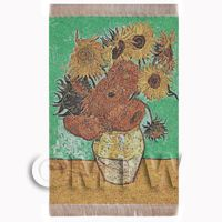Dolls House Miniature Large Tapestry Of Van Goghs Sunflowers (TAPSR02)