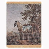 Dolls House Miniature Large Tapestry With Horses (TAPSR03)