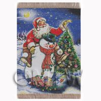 Dolls House Miniature Large Christmas Tapestry (TAPSR08)