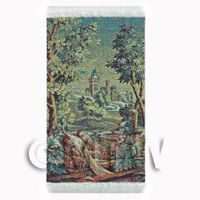 Dolls House Miniature Small Tapestry - Castle (TAPXSR03)