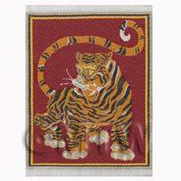 Dolls House Miniature Small Woven Tiger Tapestry (TAPXSR05)