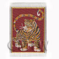 Dolls House Miniature Tiny Woven Tiger Tapestry (TAPmini01)
