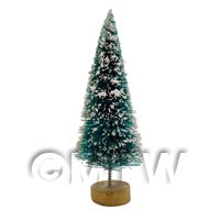 Dolls house Miniature Small Christmas Tree with Snow