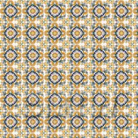 1:12th Orange And Yellow Star Design Tile Sheet With Grey Grout