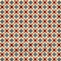 1:12th Red And Grey Geometric Design Tile Sheet With White Grout