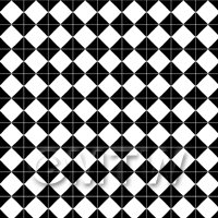 1:12th Large Classic Black And White Diamond Design Tile Sheet