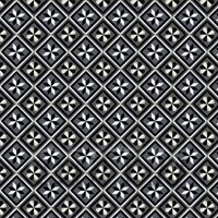 1:12th Charcoal And Grey Geometric Design Tile Sheet With Dark Grout