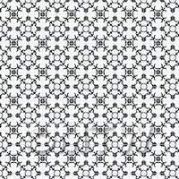 1:12th Black Styalised Flower Tile Sheet With Pale Grey Grout