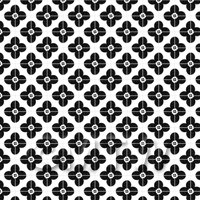 1:12th Black Flower Design Tile Sheet With Pale Grey Grout