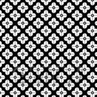 1:12th White Flower Design Tile Sheet With Black Grout