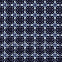 1:12th Blue And Black Interlocking Design Tile Sheet With Black Grout
