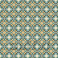 1:12th Orange And Green Aztec Style Tile Sheet With Grey Grout
