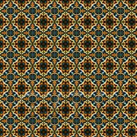 1:12th Dark Orange And Blue Aztec Style Tile Sheet With Brown Grout