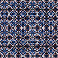 1:12th Dark Pink And Blue Aztec Style Tile Sheet With Dark Grey Grout