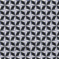 1:12th Classic Diamond Design Blue And Black Floor Tile Sheet