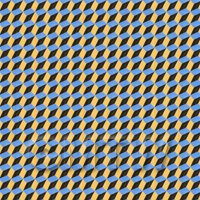 1:12th 3D Effect Blue, Yellow And Black Design Tile Sheet