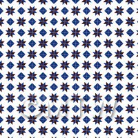 1:12th Dark Blue And Maroon Stars And Diamond Design Tile Sheet
