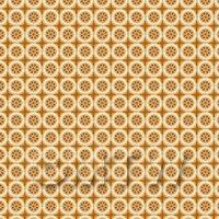 1:12th Orange/Brown Styalised Wheel Design Tile Sheet With Orange Grout