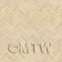 Dolls House Miniature Parquet Flooring 9 Inch Natural Oak Strip Effect