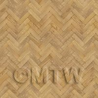 Dolls House Miniature Parquet Flooring 9 Inch Honey Color Oak Strip Effect