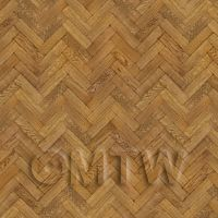 Dolls House Miniature Parquet Flooring 9 Inch Dark Honey Colour Oak Strip Effect