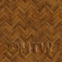 Dolls House Miniature - Pack of 5 Dolls House Parquet Flooring 9 Inch Pale Cocoa Oak Strip Effect Sheets