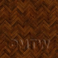 Dolls House Miniature Parquet Flooring 9 Inch Cocoa Colour Oak Strip Effect