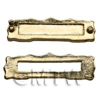 Dolls House Miniature Brass Coloured Metal Letterbox and Backplate